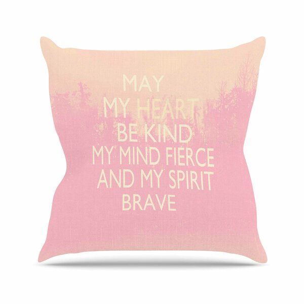 Suzanne Carter Kind Outdoor Throw Pillow by East Urban Home