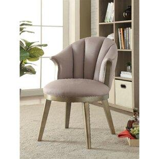 Bejarano Fabric Upholstered Wooden Curved Backrest Barrel Chair