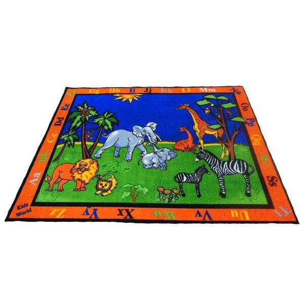 Precious Babies Safari Animals Area Rug by Kids World Carpets