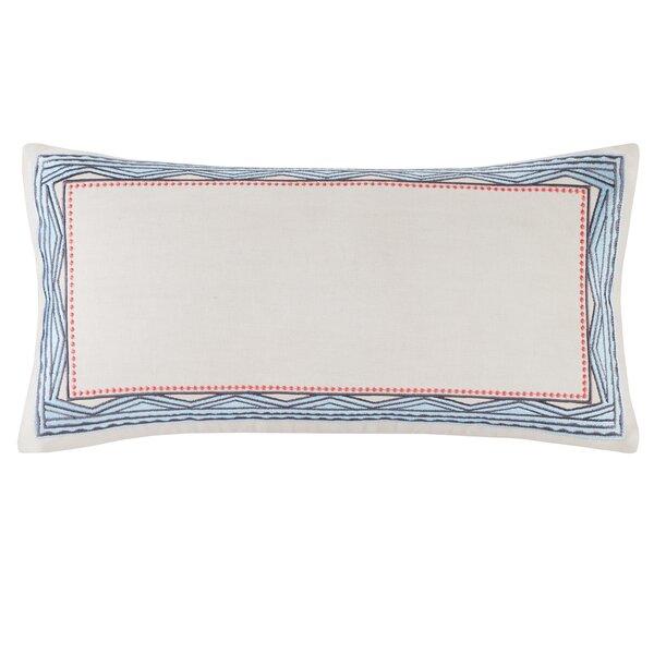 Ibiza Embroidery Cotton Lumbar Pillow by Echo Design™