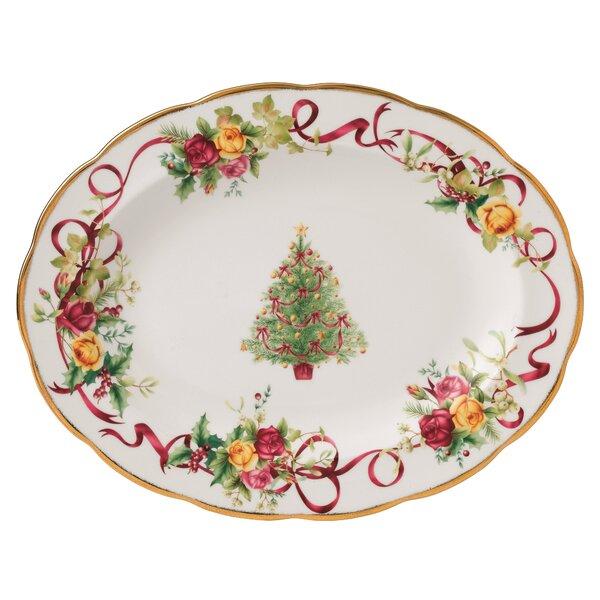 Christmas Bone China Platter by Royal Albert