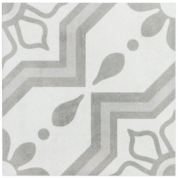 Sintra 9 x 9 Porcelain Field Tile in Matte Sky Silver by Splashback Tile