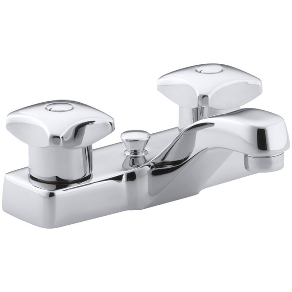 Triton Centerset Commercial Bathroom Sink Faucet with Pop-Up Drain and Standard Handles by Kohler