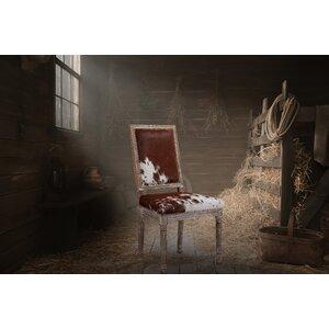 Drumright 2 Piece Cowgirl Hide Parsons Chair Set (Set of 2) Loon Peak