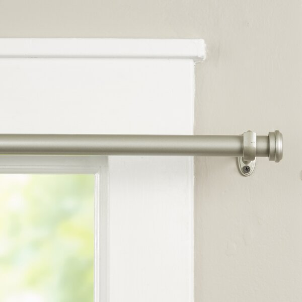 Wayfair Basics End Cap Single Curtain Rod & Hardware Set by Wayfair Basics™