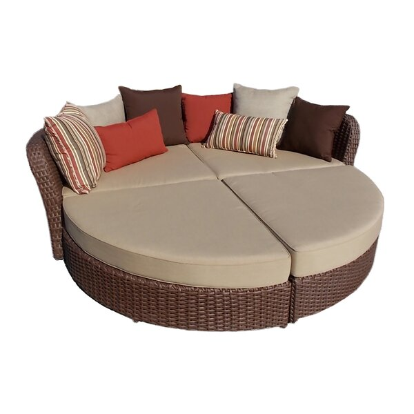 Broadbent Chaise Lounge with Cushion by Darby Home Co