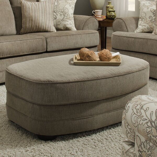 Grandstand Oval Ottoman by Simmons Upholstery