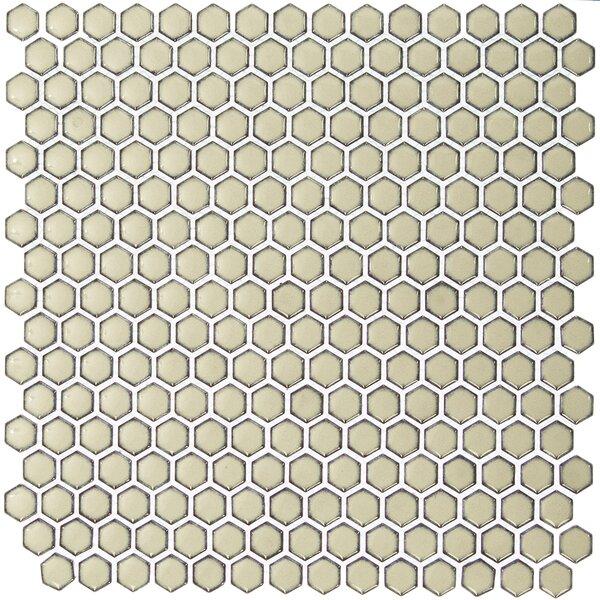 Bliss 0.6 x 0.6 Ceramic Mosaic Tile in Khaki by Splashback Tile