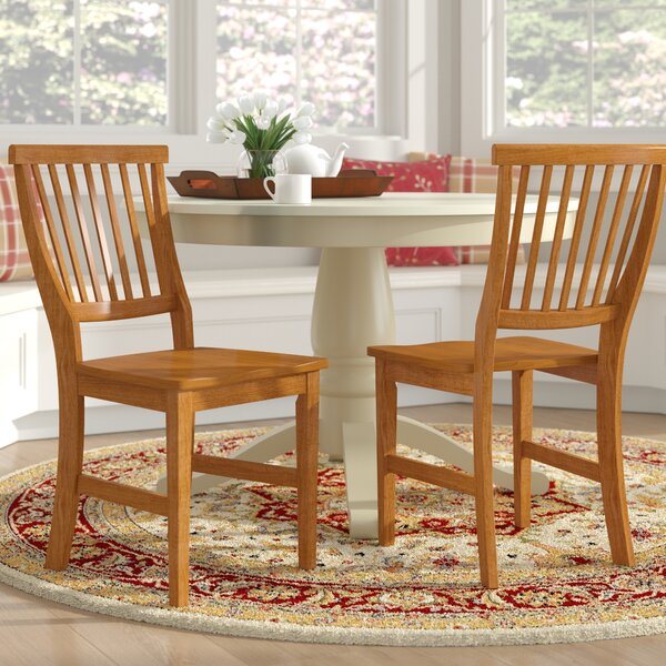 Ferryhill Solid Wood Dining Chair (Set of 2) by Three Posts