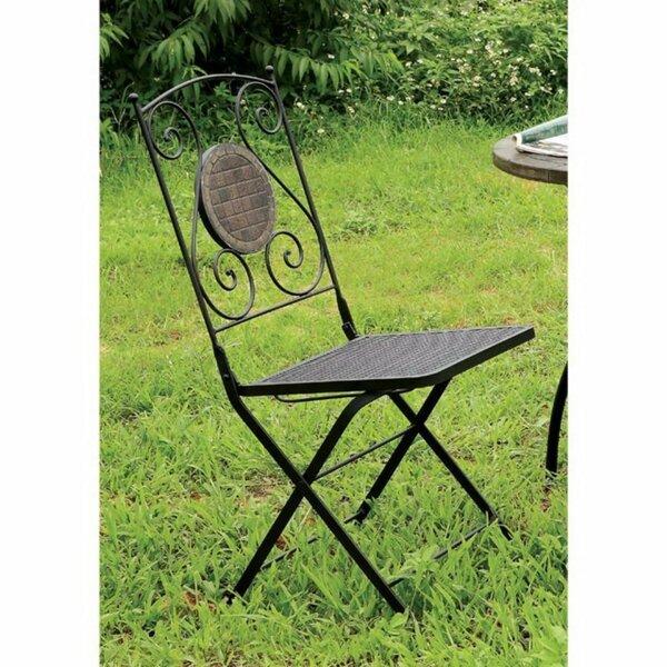 Latshaw Metal Folding Chair (Set of 2) by Winston Porter