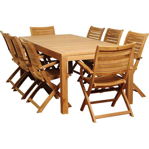 Brighton Teak 9 Piece Dining Set by Sol 72 Outdoor