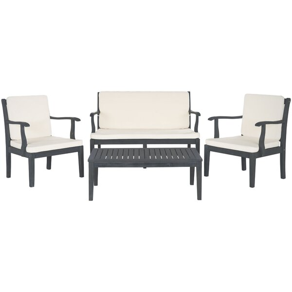 Montclair 4 Piece Sofa Seating Group with Cushions by Safavieh