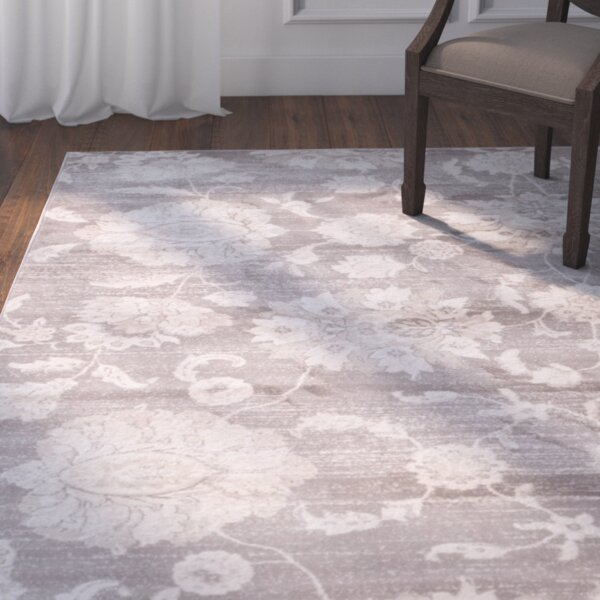 Adelaide Gray / Ivory Area Rug by Darby Home Co