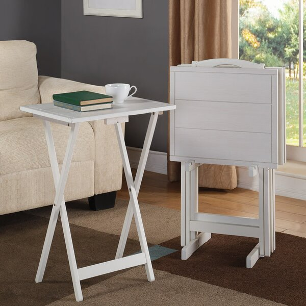Dam 5 Piece Tray Table Set by Red Barrel Studio