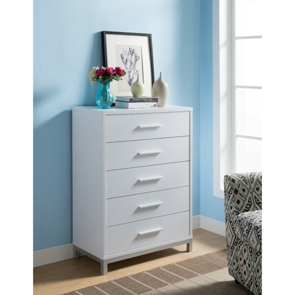 Hodge 5 Drawer Standard Chest by Wrought Studio