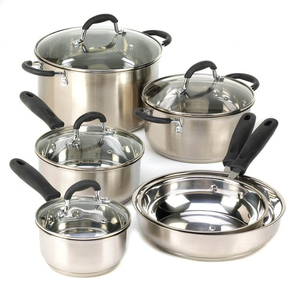 Deluxe 10 Piece Cookware Set by Zingz & Thingz