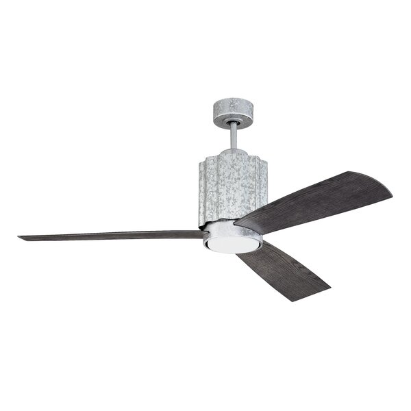 52 Monserrat 3 Blade LED Ceiling Fan with Remote by 17 Stories