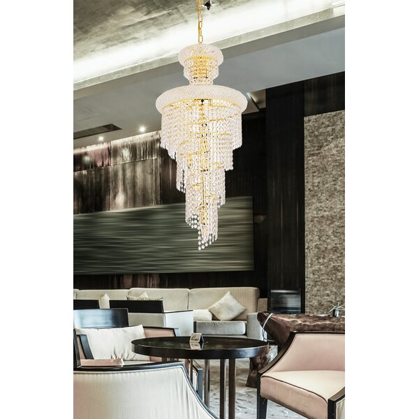 Mathilde 10 - Light Unique Tiered Chandelier with Crystal Accents by Everly Quinn Everly Quinn