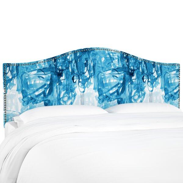 Poynter Stroke Block Linen Upholstered Headboard by Brayden Studio