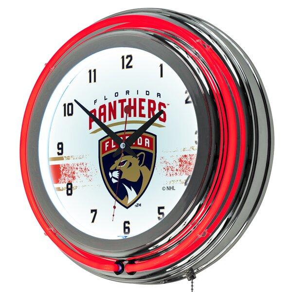 NHL Neon 14.5 Wall Clock by Trademark Global