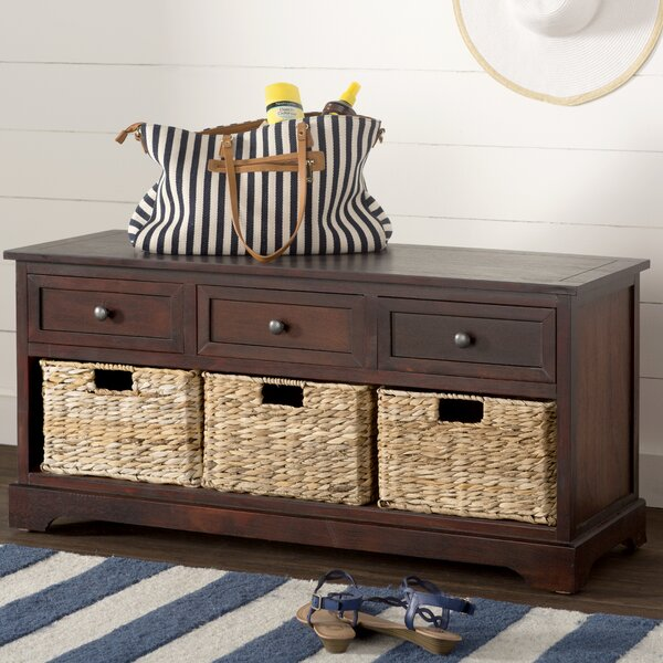 Ardina Wood Storage Bench By Beachcrest Home.