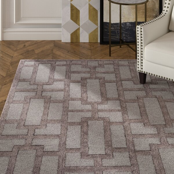 Perpetua Hand-Tufted Light Blue/Gray Area Rug by Mercer41