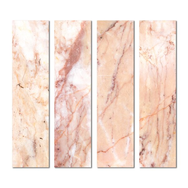 3 x 12 Beveled Glass Subway Tile in Pink by Upscale Designs by EMA