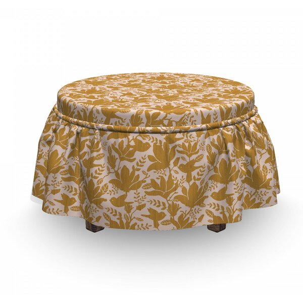 Stencil Print Ottoman Slipcover (Set Of 2) By East Urban Home