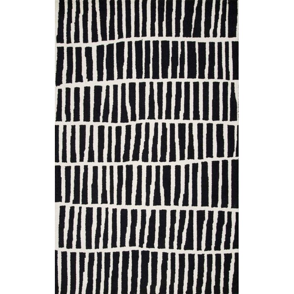 Bohm Hand-Tufted Black Area Rug by Wrought Studio
