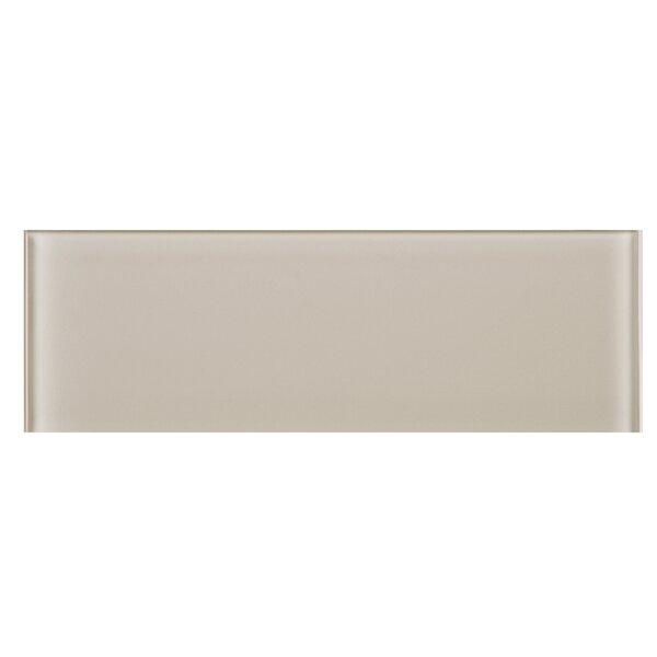 4 x 12 Glass Tile in Beige by Multile