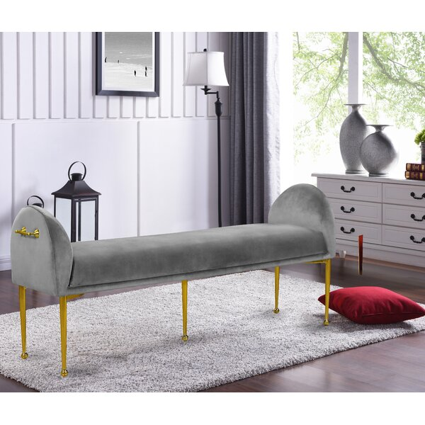 Stovall Upholstered Bench by Everly Quinn