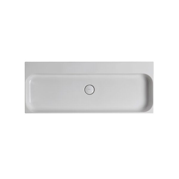 Unit Ceramic 40 Wall Mount Bathroom Sink with Overflow by WS Bath Collections