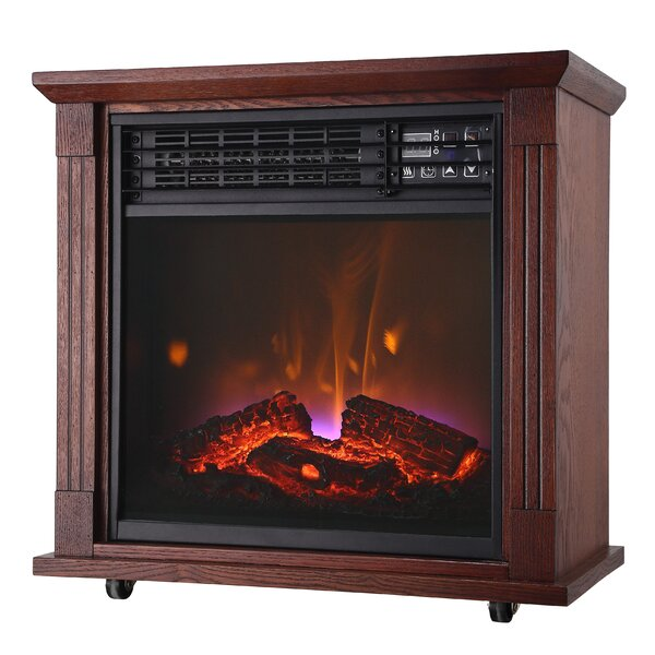 Quartz Mobile Electric Fireplace by Comfort Glow