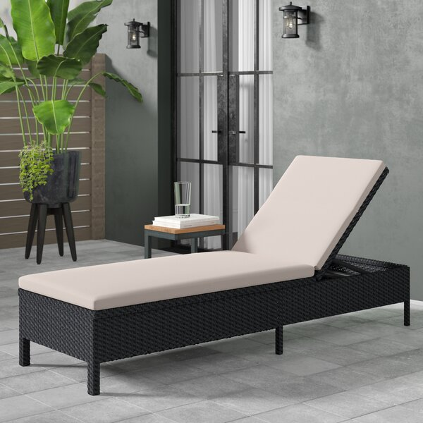 Gaddis Reclining Chaise Lounge with Cushion by Andover Mills Andover Mills