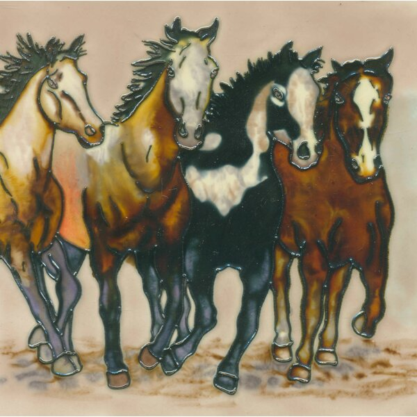 4 Horses Tile Wall Decor by Continental Art Center