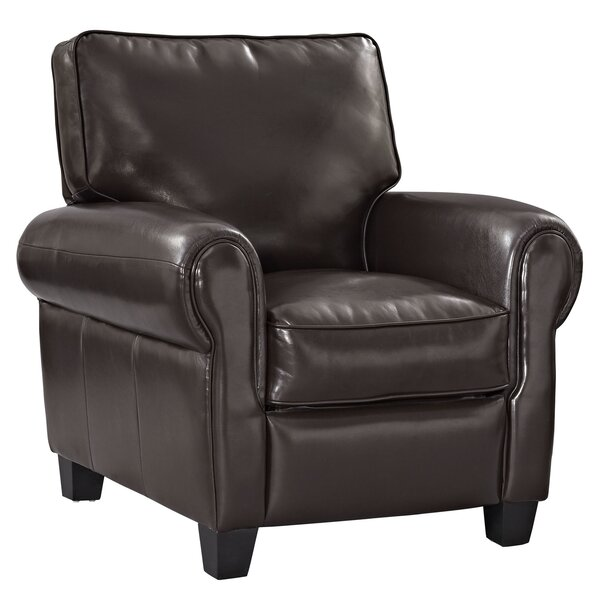 Leader Leather Manual Recliner by Modway