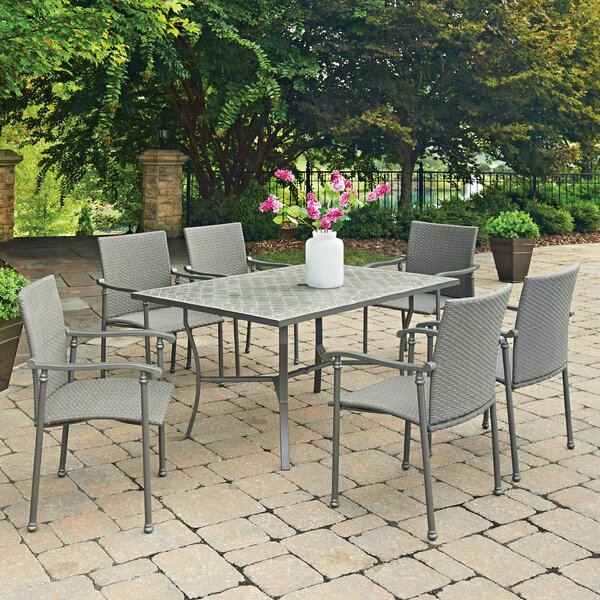 Umbria Concrete Tile 7 Piece Dining Set by Home Styles