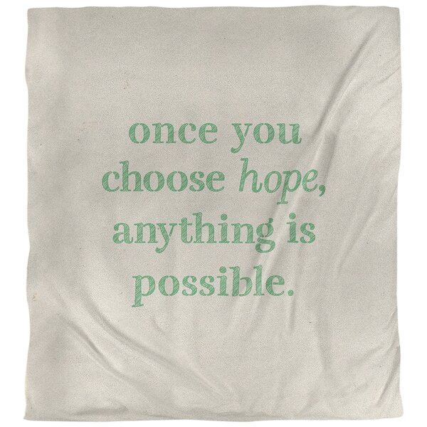 Choose Hope Quote Single Duvet Cover