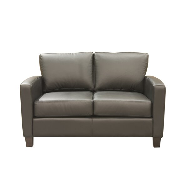 Suzanna Leather Loveseat by Latitude Run
