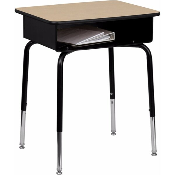 Manufactured Wood Adjustable Height Open Front Desk by Offex