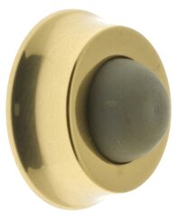 Solid Brass Wall Door Stop by idh by St. Simons