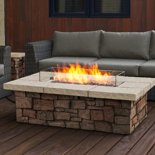 Sedona Concrete Propane Fire Pit Table by Real Flame