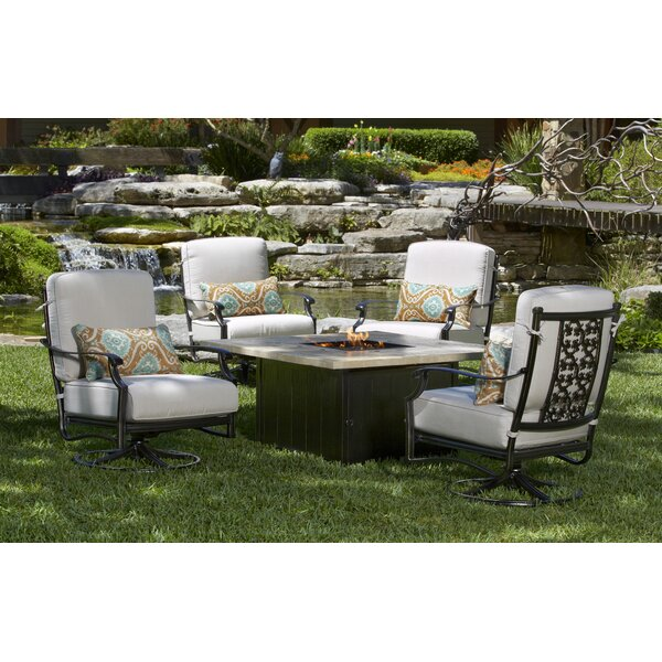 Ibai 5 Piece Multiple Chairs Seating Group with Sunbrella Cushions by Red Barrel Studio Red Barrel Studio