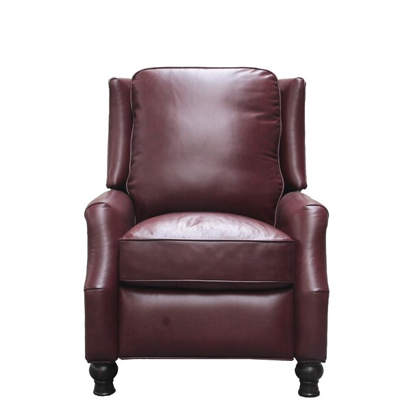 Emmaleigh Leather Manual Recliner by Darby Home Co