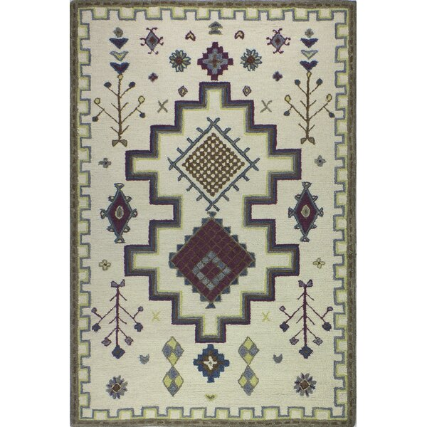 Londono Hand-Woven Wool Ivory Area Rug by Union Rustic