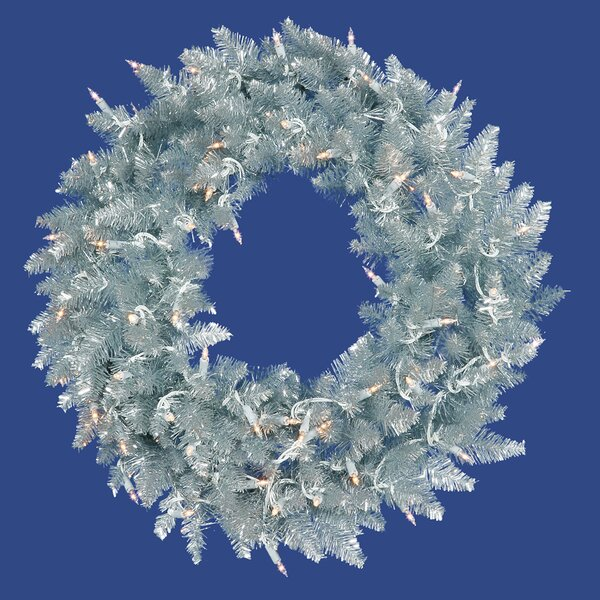24 Lighted Artificial Ashley Spruce Christmas Wreath by Vickerman