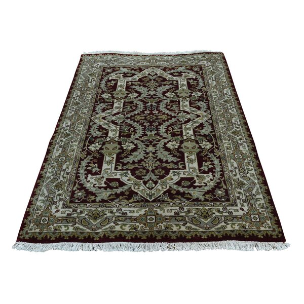 One-of-a-Kind Rudolph New Zealand 300 KPSI Hand-Knotted Blue/Green/Black Area Rug by Astoria Grand
