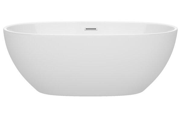 Juno 63 x 32 Freestanding Soaking Bathtub by Wyndh