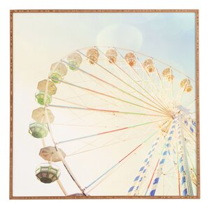 Ferris Wheel Framed Graphic Art by East Urban Home