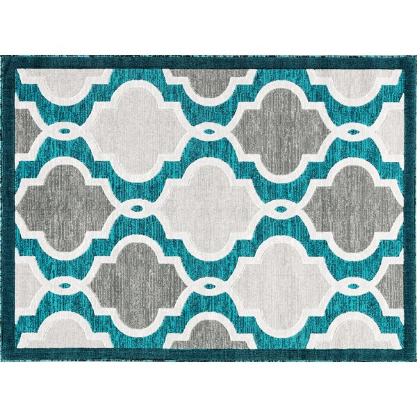 Claris Turquoise Area Rug by Mercer41